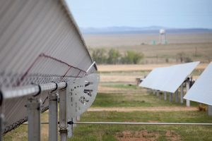 Backside of Solar Trackers