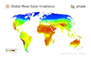 Global Mean Solar Irradiance Map